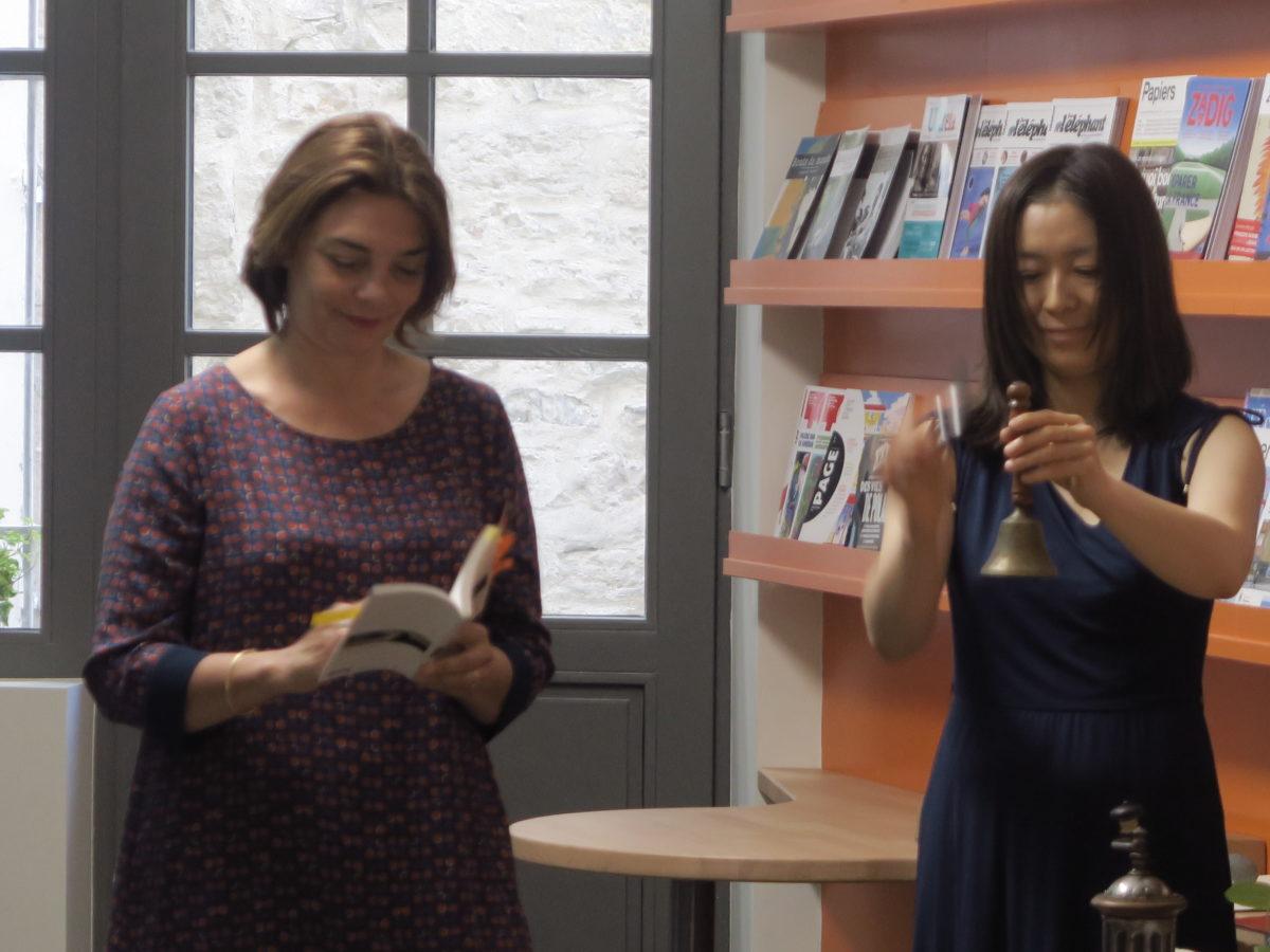 Juliette Cantau, accompagnée de la soprano: Akiko Moriyama (photo: Chris Pit.)