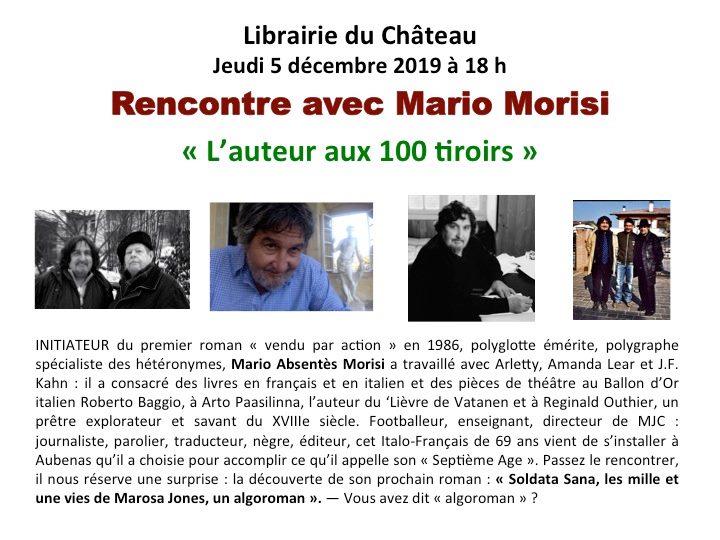 5 décembre: rencontre avec Mario Morisi.